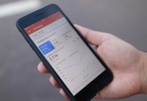 screen mobiel - analytics