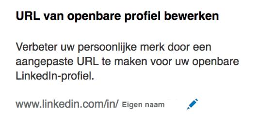 LinkedIn url profiel aanpassen