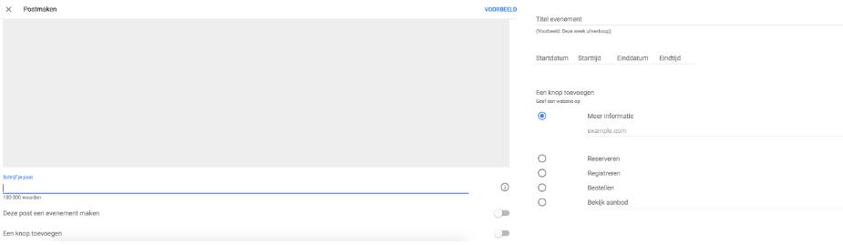 google post content zoekresultaten