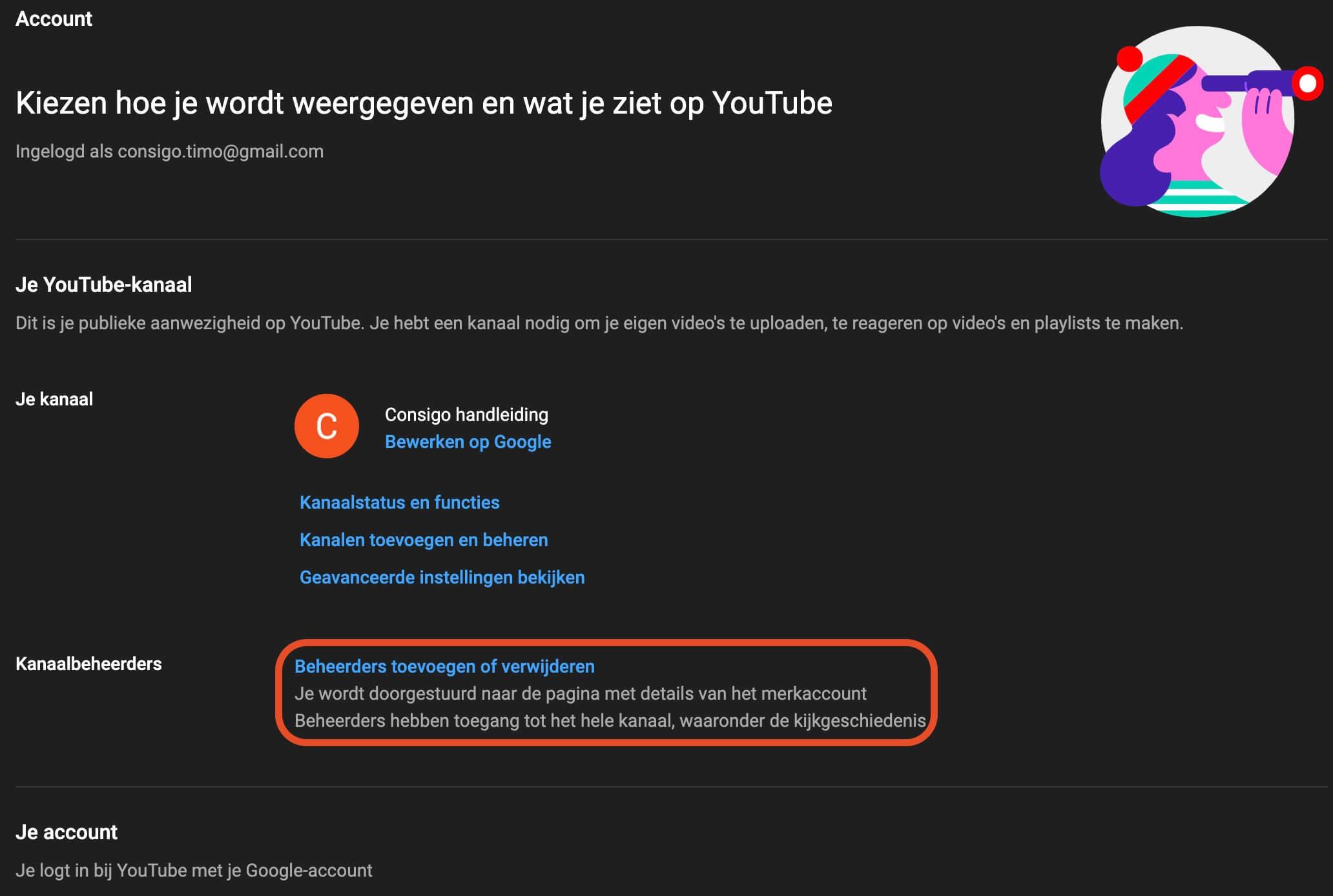 YouTube kanaalbeheerders