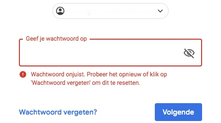online marketing wachtwoord vergeten