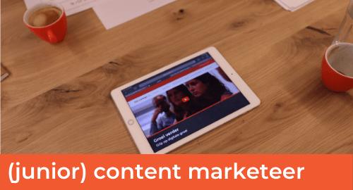 Vacatures Website - Junior content marketeer