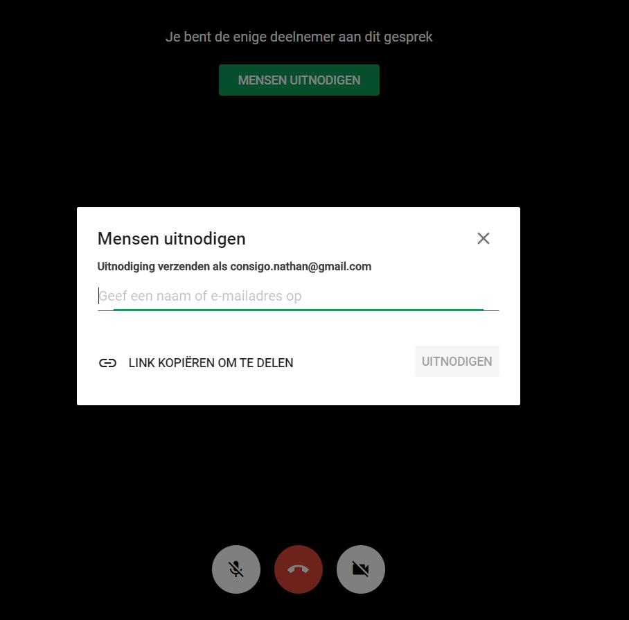 Google Hangouts deelnemers toevoegen