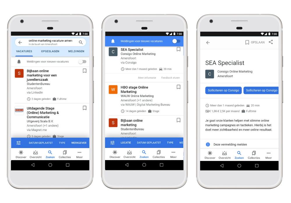 Google for Jobs - uitgelicht