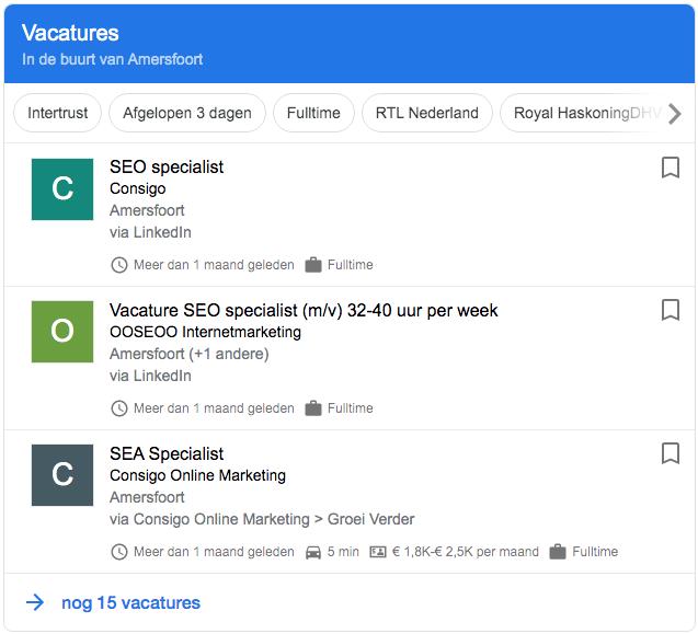 vacature Google Jobs